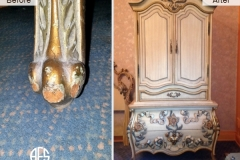Animal-damage-wear-and-tear-gilding-legs-on-armoire