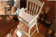 Antique-High-Chair-Color-Change-Painting