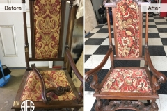 Antique-chair-hand-frame-leg-repair-restoration-upholstery