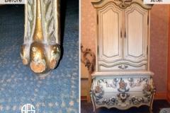 Animal-damage-wear-and-tear-gilding-legs-on-armoire