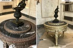 Antique-Brass-Marble-Granite-Stone-Gold-Leaf-Table-Statue-Art-Gilding-Restoration-Finishing