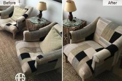 Arm-chair-repair-springs-webbing-strapd-and-replacing-foam-padding-cushions